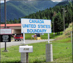 The U.S./Canada border is starkly different from that to the south.